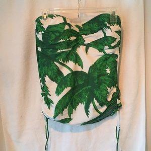 Tommy Bahama green print tankini swimsuit top